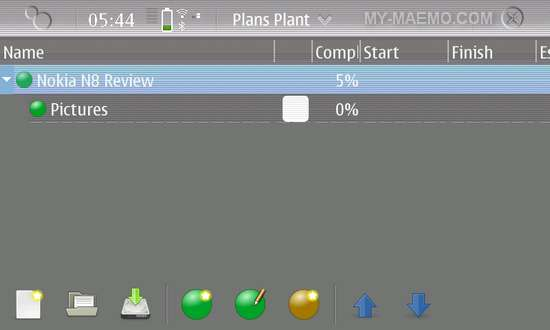 Plans Plant for Nokia N900 / Maemo 5