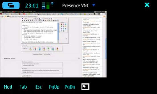 Presence VNC for Nokia N900 / Maemo 5