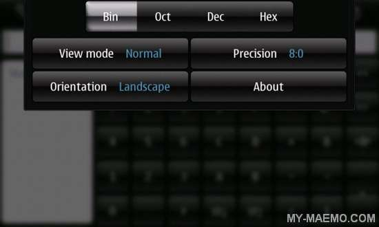ProCalc for Nokia N900 / Maemo 5