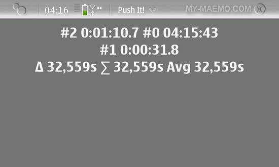 Push-It! for Nokia N900 / Maemo 5