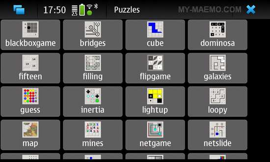 Puzzle Collection for Nokia N900 / Maemo 5