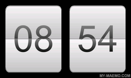 QFlipClock for Nokia N900 / Maemo 5