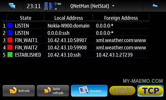 QNetMan for Nokia N900 / Maemo 5