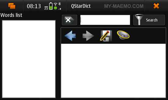 QStarDict for Nokia N900 / Maemo 5