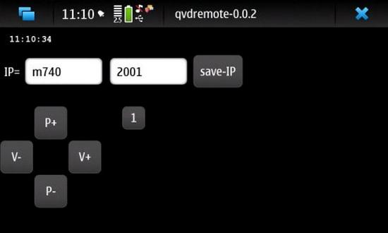 qvdremote for Nokia N900 / Maemo 5