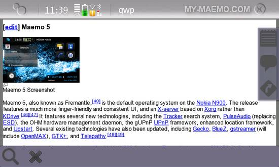 QWP for Nokia N900 / Maemo 5
