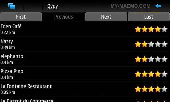 Qypy for Nokia N900 / Maemo 5
