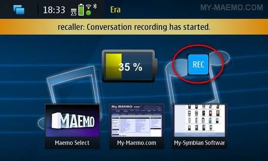 Recaller for Nokia N900 / Maemo 5
