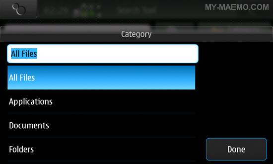 Search Tool for Nokia N900 / Maemo 5