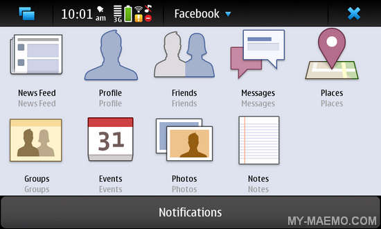 Sociality for Nokia N900 / Maemo 5