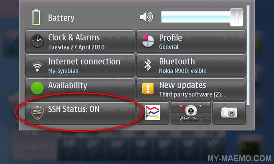 SSH Status and Switcher for Nokia N900 / Maemo 5