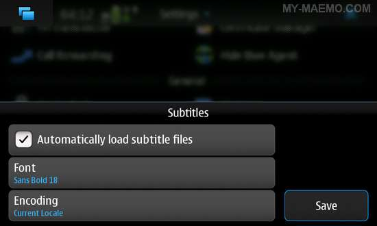Subtitles Support for Nokia N900 / Maemo 5