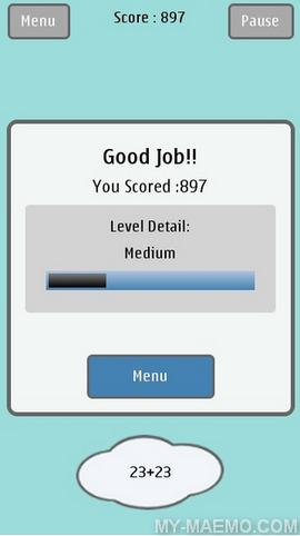 The Math Game for Nokia N900 / Maemo 5