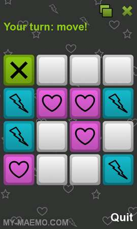 Tic-Tac-Toe for Nokia N900 / Maemo 5