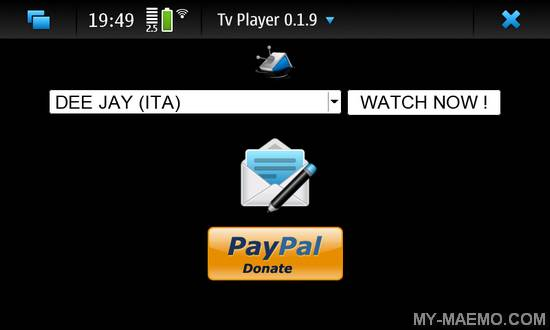 Tv Player for Nokia N900 / Maemo 5