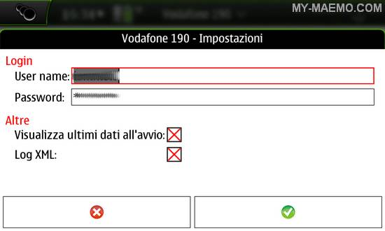 Vodafone190 for Nokia N900 / Maemo 5