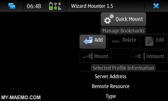Wizard-Mounter for Nokia N900 / Maemo 5