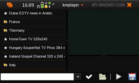 WorldTV99 for Nokia N900 / Maemo 5