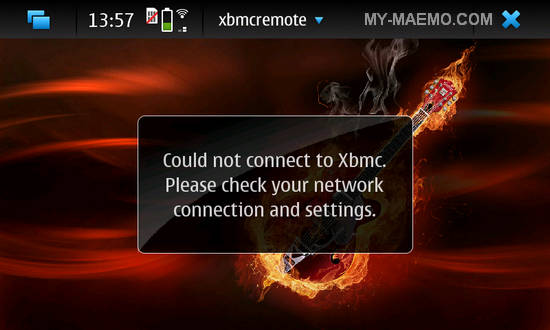 XBMC Remote for Nokia N900 / Maemo 5