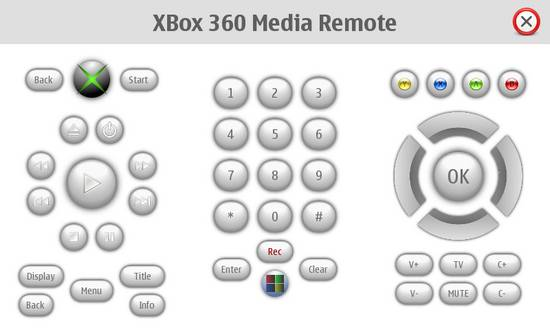 XBox360 Media Remote for Nokia N900 / Maemo 5